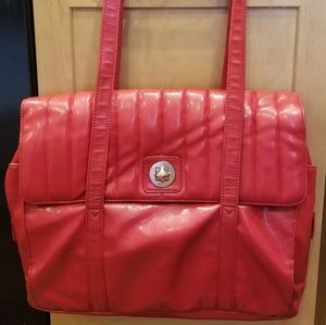 Red leather Buxton briefcase/computer bag.
